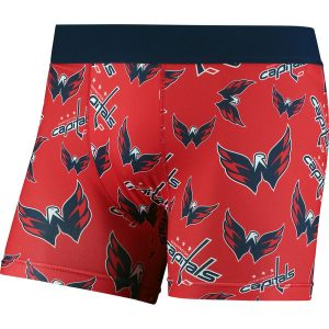 Men's Washington Capitals Red Repeat Logo Compression Underwear