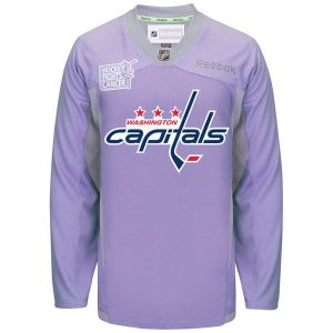 Men's Washington Capitals Reebok Purple Hockey Fights Cancer Practice Jersey