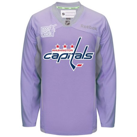 Men s Washington Capitals Reebok Purple Hockey Fights Cancer Practice Jersey 49f1863c084