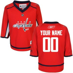 Reebok Washington Capitals Infant Replica Home Custom Jersey