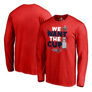 Washington Capitals Fanatics Branded 2017 NHL Stanley Cup Playoff Participant Blue Line Long Sleeve T-Shirt