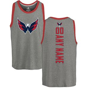 Washington Capitals Fanatics Branded Personalized Backer Tri-Blend Tank Top