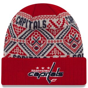 Washington Capitals New Era Cozy Cuffed Knit Hat
