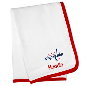Washington Capitals Personalized Baby Blanket