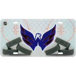 Washington Capitals WinCraft Rink Crystal Mirror License Plate