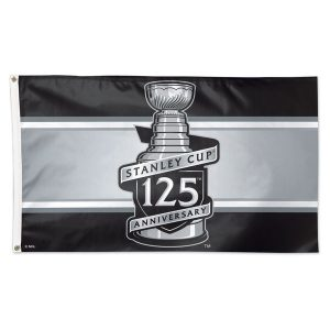 WinCraft Stanley Cup 125th Anniversary One-Sided Deluxe 3′ x 5′ Flag