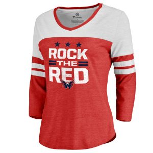 Women's Washington Capitals Red Hometown Collection Rock the Red Three-Quarter Sleeve T-Shirt
